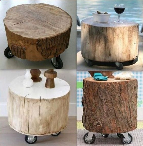 Shed DIY - Big logs on castors, this would be great in my potting shed! Now You Can Build ANY Shed In A Weekend Even If You've Zero Woodworking Experience!