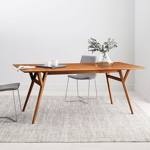 Mid Century Expandable Dining Table Walnut Mcm Dining Table Expandable Dining Table Dinner Tables Furniture