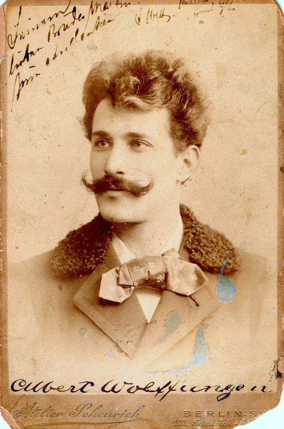 Attractive mustachioed man.