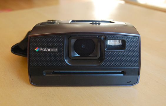 Whatever the flaws of the new digital Polaroid camera, you gotta love that old-school design.