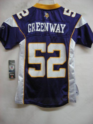 NFL Jersey's Youth Minnesota Vikings Chad Greenway Pro Line Team Color Jersey
