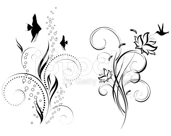 Motif floral Stock Vecteur Libres de Droits 20795280 - iStock
