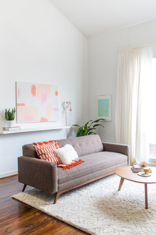 25 ideias para decoração com sofá marrom ou sofá bege: