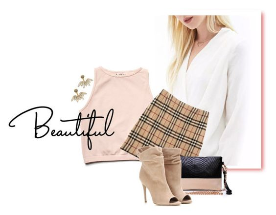 """""""Lindo❤️❤️❤️"""" by patri-fachini ❤ liked on Polyvore featuring Free People, Burberry and CA&LOU"""