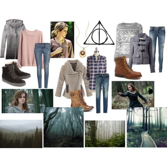 """""""Hermione Granger- Deathly Hallows Part 1"""" by jukeboxkitty on Polyvore"""