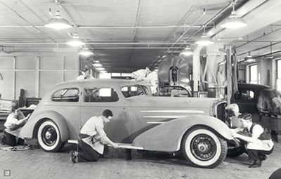 "OG | 1933 Cadillac Aerodynamic V16 Coupé | Full-size clay model. This model was displayed in the GM pavilion at the 1933-34 ""Century of Progress"" Chicago Worlds Fair."