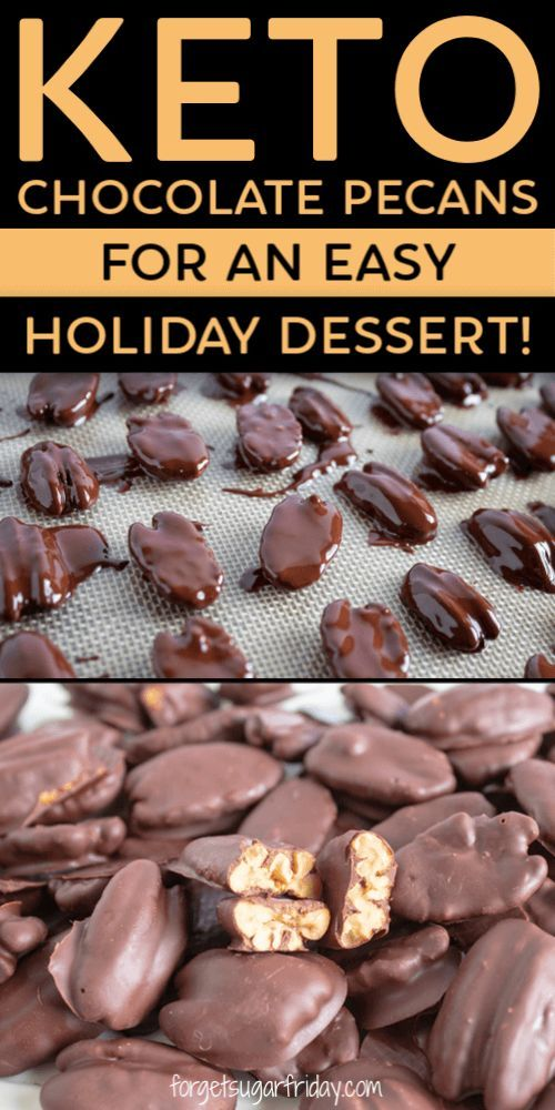 KETO Chocolate Covered Pecans make an easy holiday dessert!