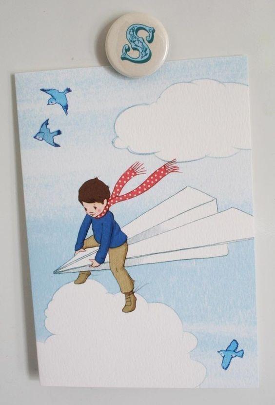 My Paper Plane Blank Greetings Card by belleandboo on Etsy, £2.50