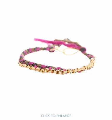 Silk Braided Bracelet (this one or a cheaper one)
