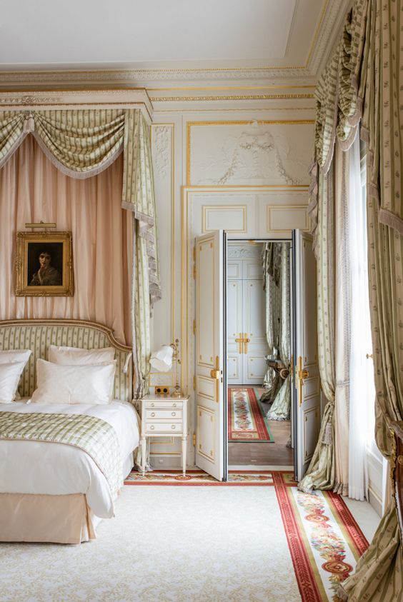 Ritz Paris guestroom with timeless interior design and luxury decor #ritzparis #frenchprovincial