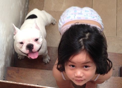 #dogs #kids Duke and Jade. Photo credit: Genjie Kirsten Tolentino: