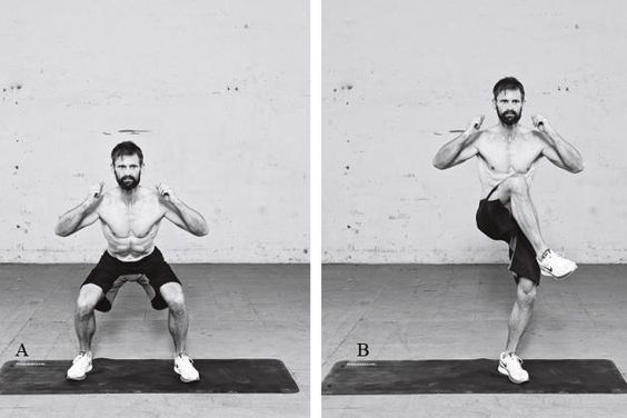 Warm-Up-Bodyweight-Übung: Kniebeuge-Kniehebe-Kombination http://www.menshealth.de/artikel/die-besten-bodyweight-uebungen-fuers-warm-up.307986.html