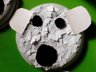 Νηπιαγωγείο αγάπη μου...: Ψαλιδίζουμε φτιάχνοντας πολική αρκούδα!!!!