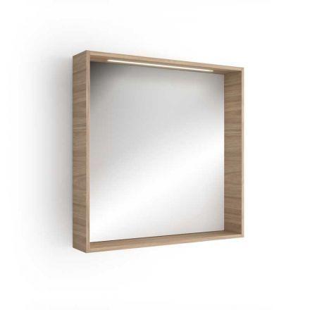 Miroir clairant pour salle de bain finition encadr e et for Miroir eclairant