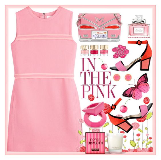 Blush by ladychatterley on Polyvore featuring Victoria, Victoria Beckham, Kat Maconie, Moschino, Maison Margiela, Marc by Marc Jacobs, Christian Dior, Henri Bendel, Pink, Dior and victoriabeckham