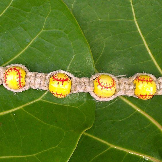 Softball+Bracelet+Hemp+Softball+Bracelet+made+by+SoftballBracelet,+$8.99