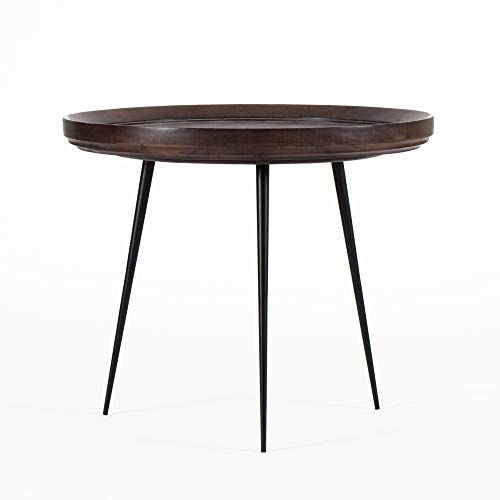 Girona Round Side Table Large Elegant End Table For Office Living Room Bedroom Dining Mango Wood Round Wood Side Table Round Side Table Side Table