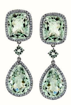 Christian Dior Green Sapphire earrings: