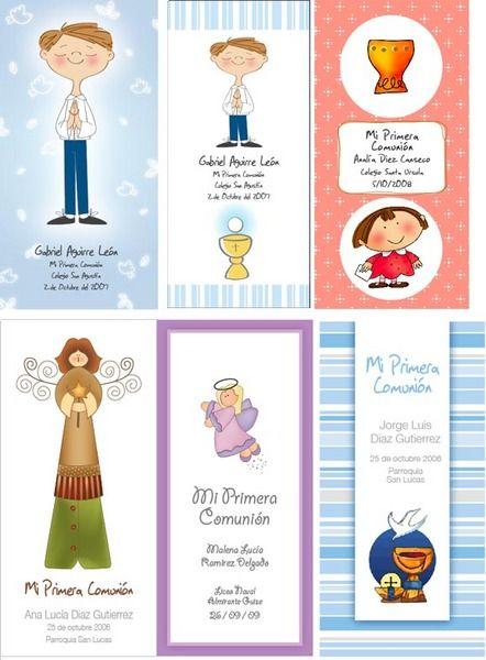 Estampitas de primera comuni n imagui estampitas - Detalles de comunion para hacer en casa ...