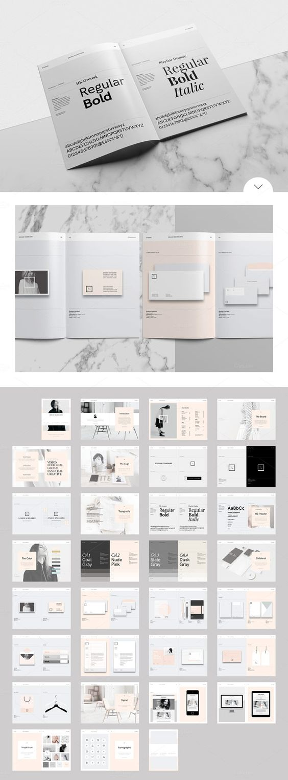 Studio Branding Guidelines Template for Adobe InDesign (WE AND THE COLOR)