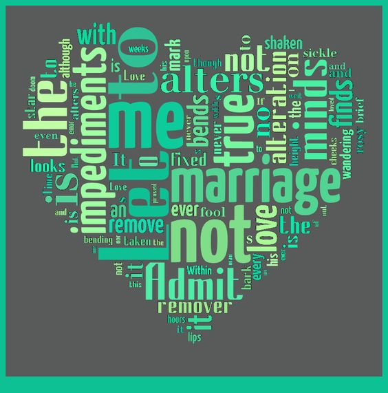 let me not to the marriage of true minds essay Shakespeare's sonnet 116 is one of the ultimate definitions of true love, an ideal  most of us humans  let me not to the marriage of true minds.