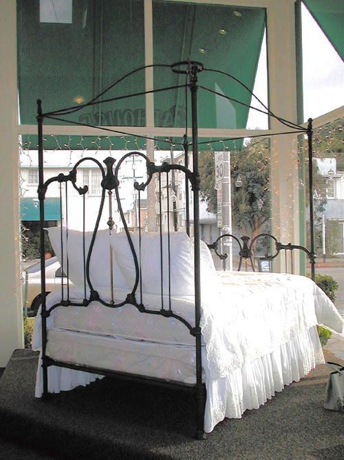 Iron Beds Crown Canopy 1 Bed Frame Vintage Bed Frame