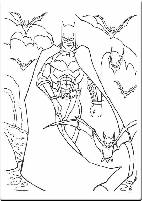 Bat Man Coloring Pages Batman Para Colorear