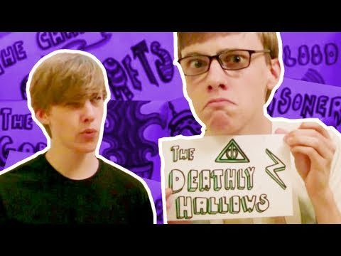 Harry Potter in 99 Seconds - Jon Cozart (Paint) comically summarizes the Harry Potter series quite nicely, singing a capella (with video edits of himself) to the melodies of various soundtracks from the films. More of a fan video than true wrock (no EPs or albums in a similar line).
