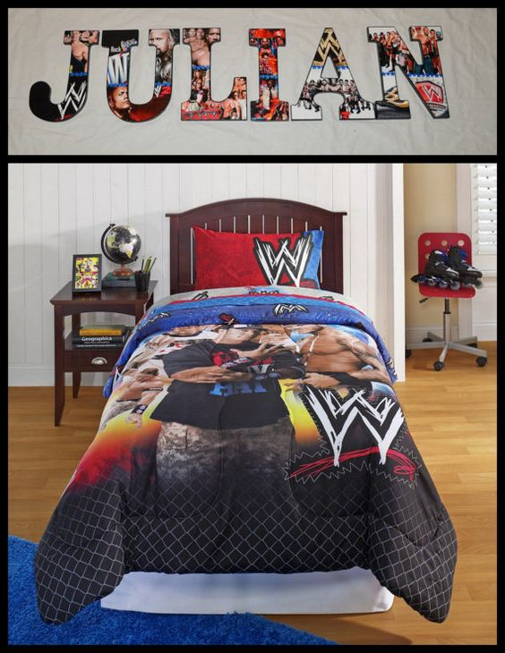 Wwe Bedroom Decor: WWE Inspired Personalized/Customized By