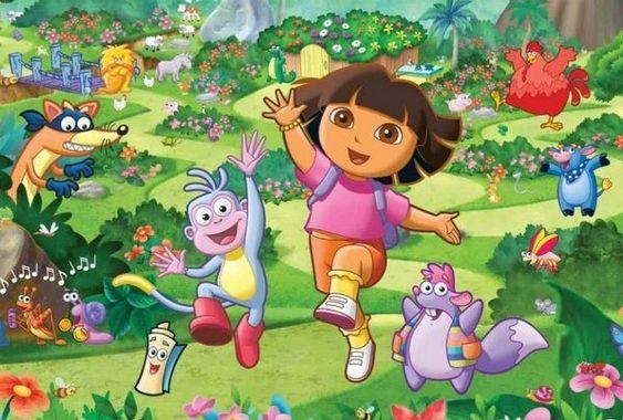 painel de festa Dora