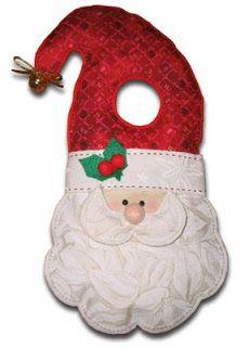 ART WITH QUIANE - Paps, Moulds, EVA, Felt, stitching, Fofuchas 3D: Santa door with mold