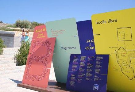 Plan B - Mucem - Marseille. Signalétique - Signage Événementiel - Event ( CL DESIGN - Paris / London )