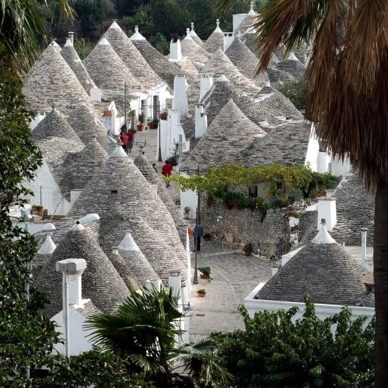"The conic ""Trulli"" dwellings in (Apulia / Italy)"
