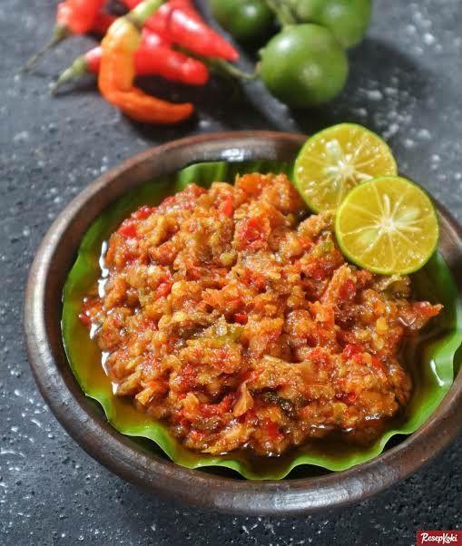 Aneka Sambel Meat Gong Cabai Rawit Makanan Resep