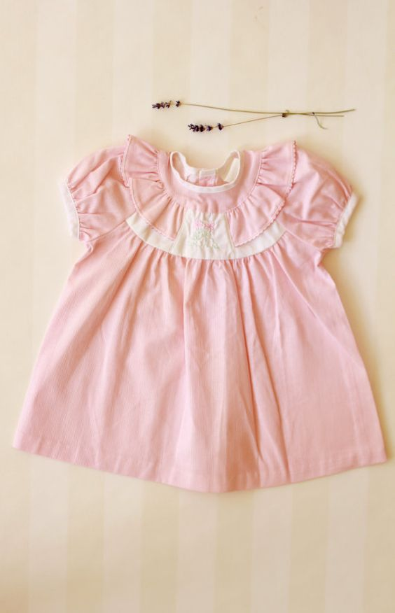 Baby Girl Dress from the 80s- French Vintage Party Dress 0-3 ...