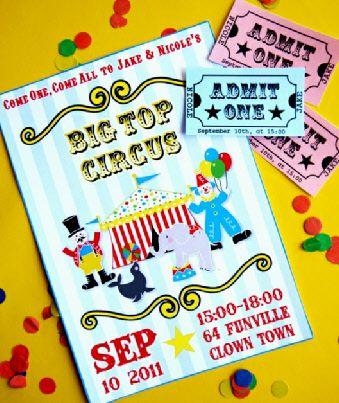 Circus Carnival printables Invites!!