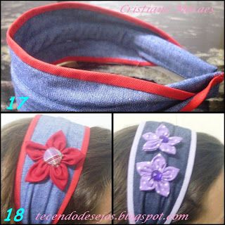 http://tecendodesejos.blogspot.com.br/search/label/Passo-a-passo tiara/faixa jeans