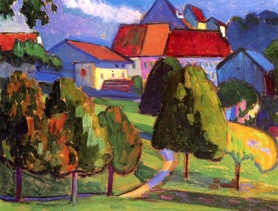 Outskirts of Murnau Gabriele Münter - 1908