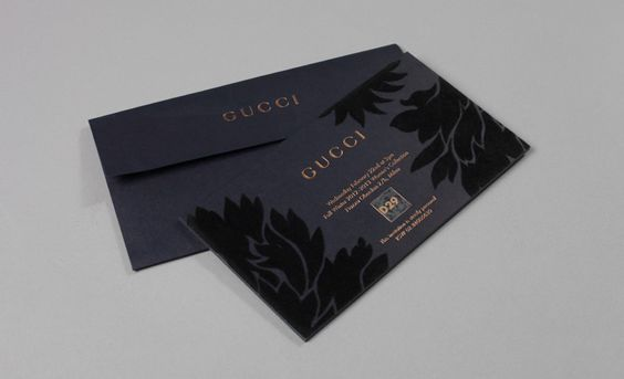 flocked invite by Gucci