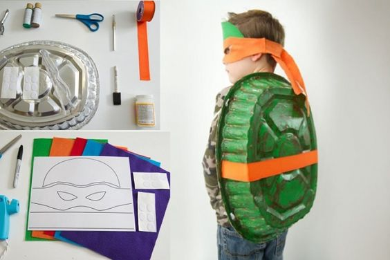 Un costume de Ninja Turtles super simple à bricoler!