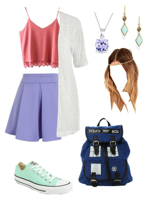 """""""Inspired By My Outfit Right Now"""" by jessicawednesday on Polyvore featuring Converse, Chicwish, maurices, Bling Jewelry and Trina Turk LA"""