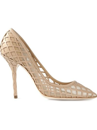 Dolce and Gabbana Grid Stiletto Pumps