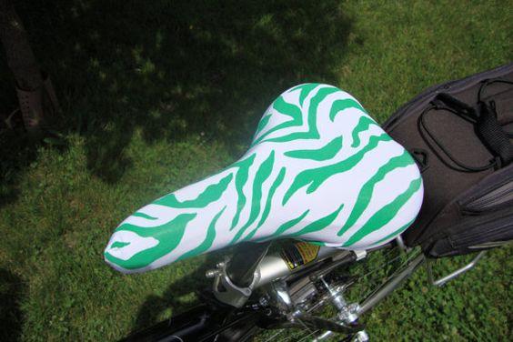 Bicycle Saddle Cover STANDARD size Green by SewCreativeBySara