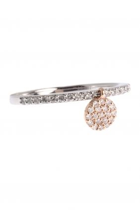white & rose gold #ring with various #diamonds I designed by meira t I NEWONE-SHOP.COM