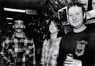 Husker Du. How come my favorite Punk Rock bands never look punk rock? The Wipers, Husker Du, Angry Samoans... Nice stache Greg, you look like a 12 year old boy wearing a Groucho Marx costume. I have a friend who's older brother went to college with Bob Mould. Bob used to steal TV's and radios from his dorm-mates, set them on fire and throw them out his third story window into the dark cold Minnesota winter night - can you say anger problem?