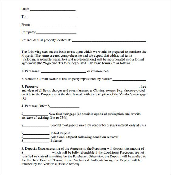 10+ Real Estate Letter Of Intent Templates u2013 Free Sample, Example - free letter of intent