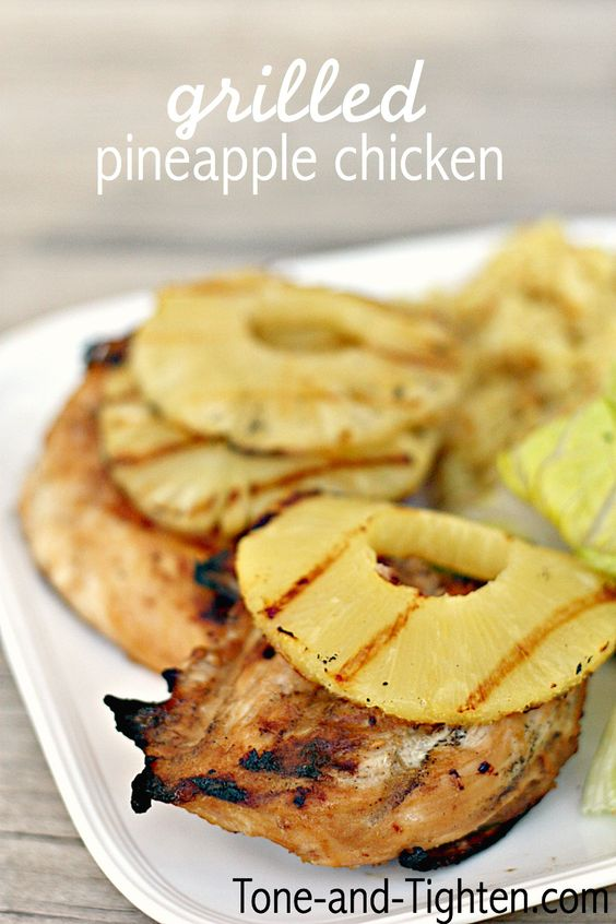 Grilled Pineapple Chicken on MyRecipeMagic.com