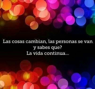 La vida continua....