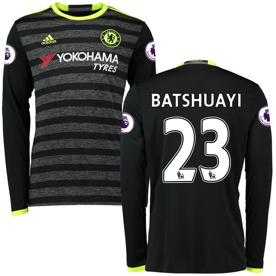 ... White Third Jersey - 2016 Michy Batshuayi Chelsea adidas 201617 Away  Replica Patch Long Sleeve Jersey - Black Chelsea FC and ... 8923ee112