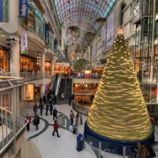 Eaton Centre at Christmas time